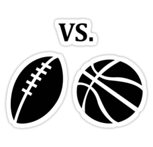 football vs. basketball