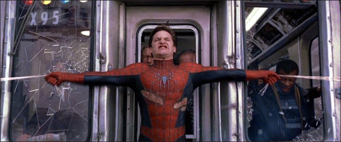 Tobey as Spider-Man