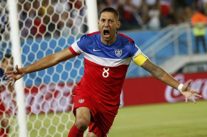 Clint Dempsey after scoring less than 30 seconds into the Ghana match. (Reuters)